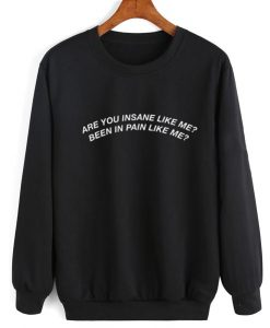 Are You Insane Like Me Sweater