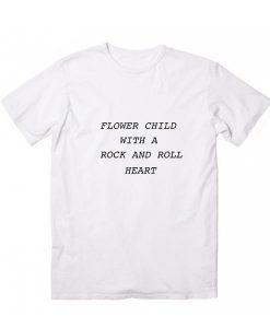Flower Child Rock & Roll Heart T-Shirt