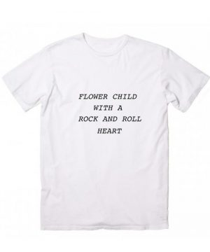 Flower Child Rock & Roll Heart T-Shirt