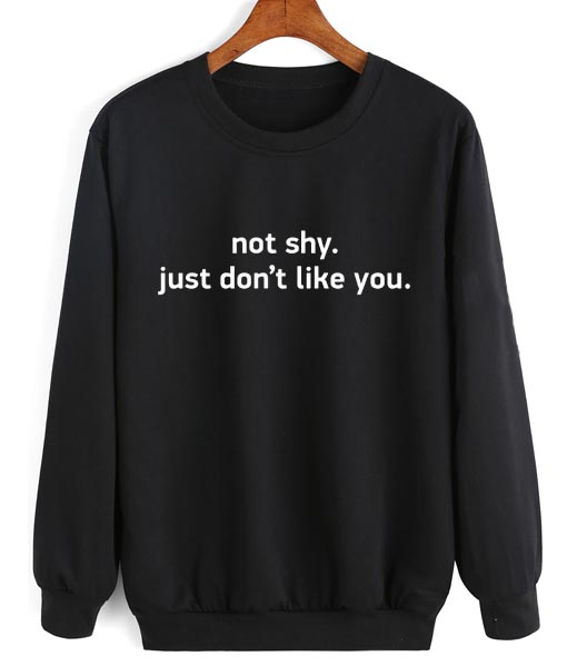 Not Shy Just Don't Like You Sweater
