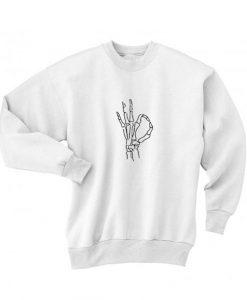 Okay Hand Skeleton Sweater