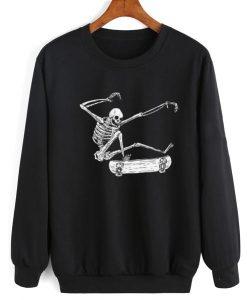 Skateboarding Skeleton Sweater