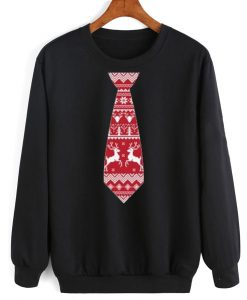Red Tie Shirt Ugly Christmas Sweater