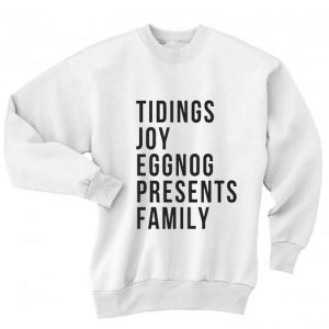 Tidings Joy Eggnog Presents Family Sweater