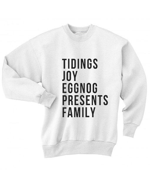 Tidings Joy Eggnog Presents Family Sweater