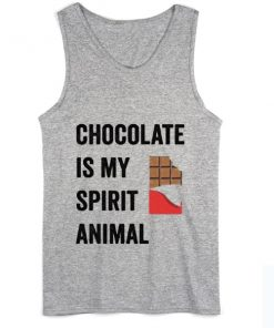 Chocolate is my Spirit Animal Summer Tank top