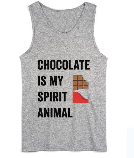 Chocolate is my Spirit Animal Summer Tank top