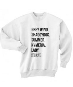 Direwolves Names Sweater