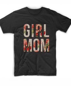 Floral Girl Mom T-Shirt