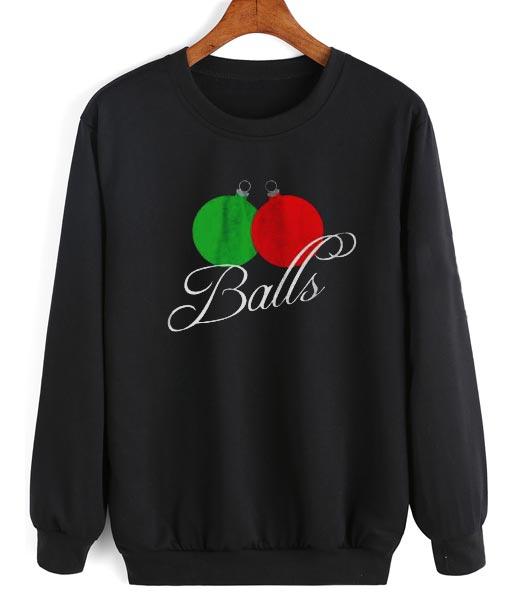 Funny Ugly Christmas Sweater.Balls Funny Sweatshirt