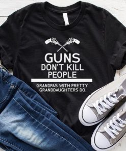Gun Don't Kill People Grandpas With Pretty Granddaughter Do T-Shirt