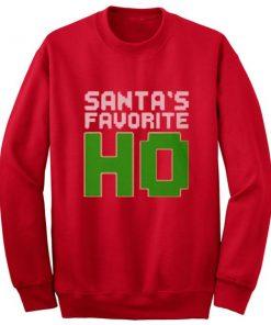 Santa's Favorite Ho Funny Ladies Sweatshirt
