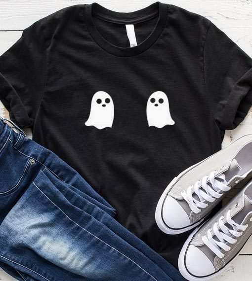 Ghost Halloween Boob T-Shirt