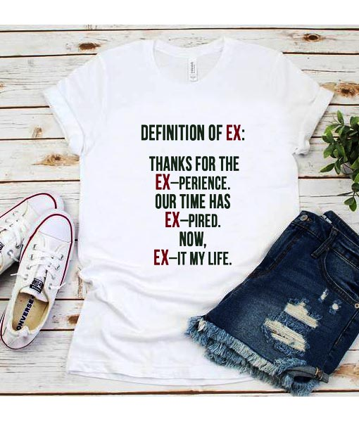 Definition of Ex T-Shirt