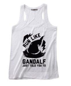 Run Like Gandalf Just Told You Summer Tank top