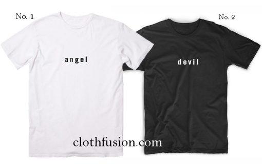 Best Friend Shirts Angel And Devil T-Shirt