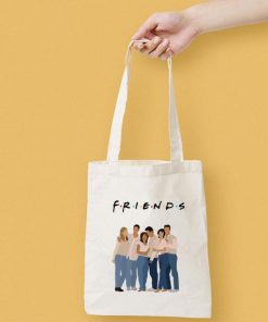 Friends Silhouette Canvas Tote Bag