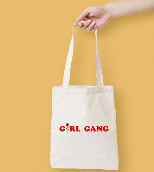Girl Gang Canvas Tote Bag