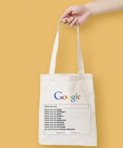 Google Black MenAre Canvas Tote Bag