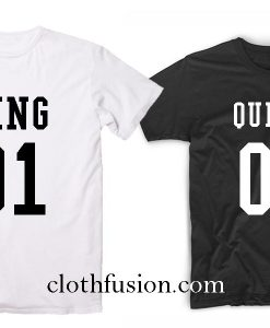 King And Queen 01 Couple T-Shirt