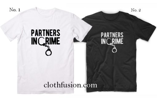 Best Friend Shirts Partners in Crime T-Shirt