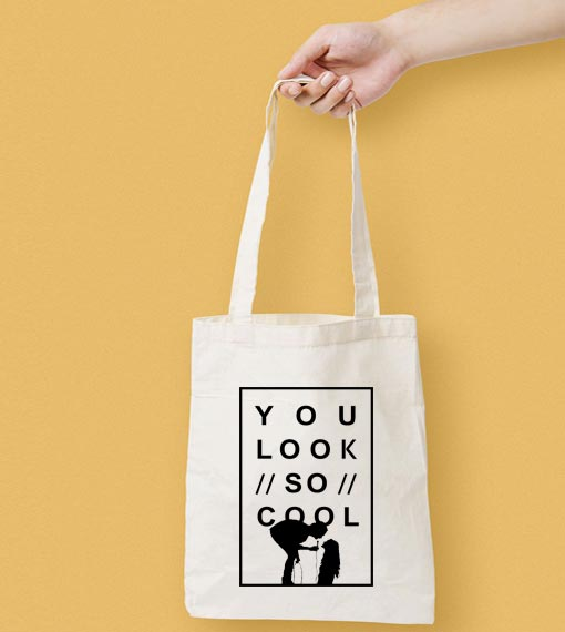You Look So Cool The 1975 Canvas Tote Bag