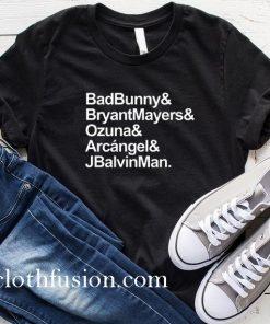 Bad Bunny Bryant Mayers Ozuna Arcangel and J Balvin T-Shirt