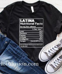 Latina Nutritional Fatcs T-Shirt