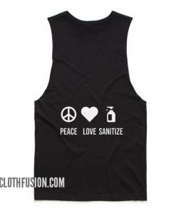 Peace Love Sanitize Tank top