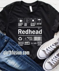 Redhead Warning Label T-Shirt