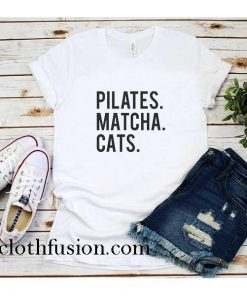Pilates Matcha Cats T-Shirt