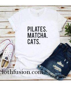 Pilates Matcha Cats T-Shirt