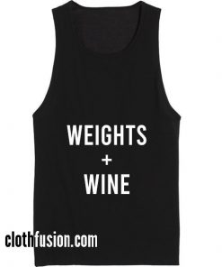 Weights and Wine Workout Tank top