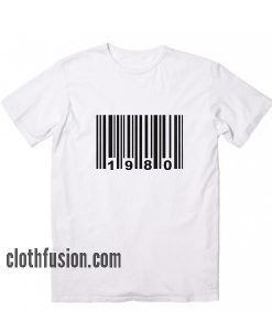 Made in 1980 Barcode T-Shirt