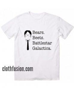 Bears beets battlestar galactica shirt dwight schrute T-Shirt