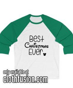 Best Christmas Ever Christmas Unisex 3/4 Sleeve Baseball Tee