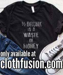 Half Drunk Christmas T-Shirt