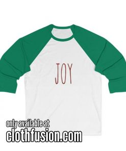 Joy Unisex 3/4 Sleeve Baseball Tee