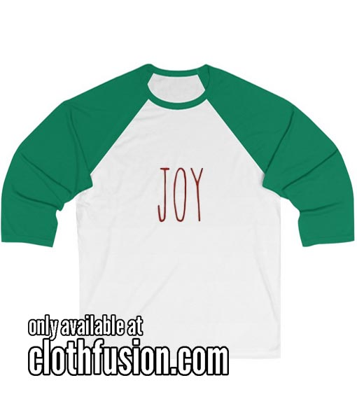 Joy Unisex 3/4 Sleeve Baseball Tee
