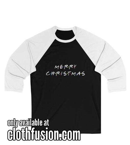 Merry Christmas Unisex 3/4 Sleeve Baseball Tee