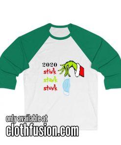 Stink Stank Stunk 2020 Christmas Unisex 3/4 Sleeve Baseball Tee