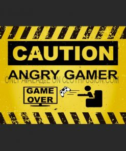 Caution Angry Gamer Funny T-Shirt