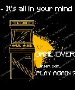 Game Over Play Again Gamer Funny T-Shirt