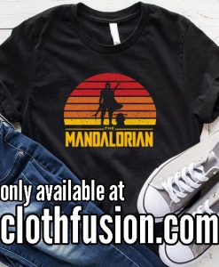 Star Wars The Mandalorian Sunset Logo