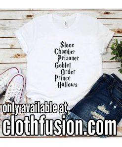 Stone Chamber Prisoner Goblet Order Prince Hallows Funny T-Shirt