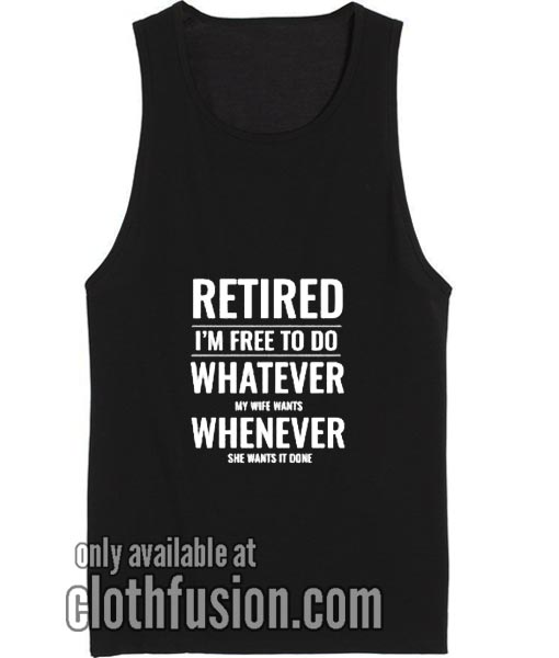 Retrired Husband Workout Tank Top Funny Tank top