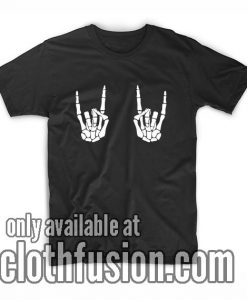 Rock On Skeleton Hands T-Shirt