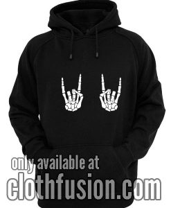 Rock On Skeleton Hands Funny Hoodies