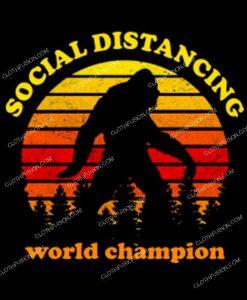 Social Distancing Bigfoot