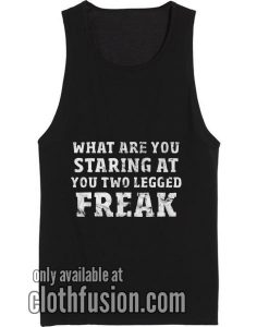 What Are You Staring At Black Funny Workout Tank Top Funny Tank top
